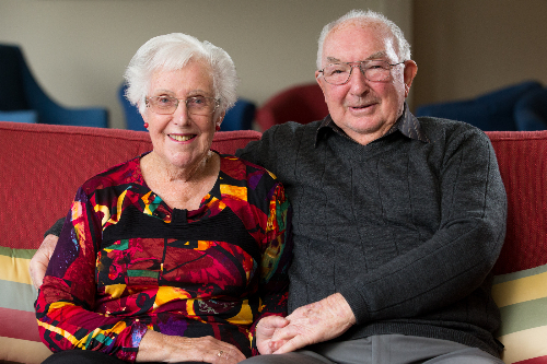 Graham and Helen Bell in retirement village